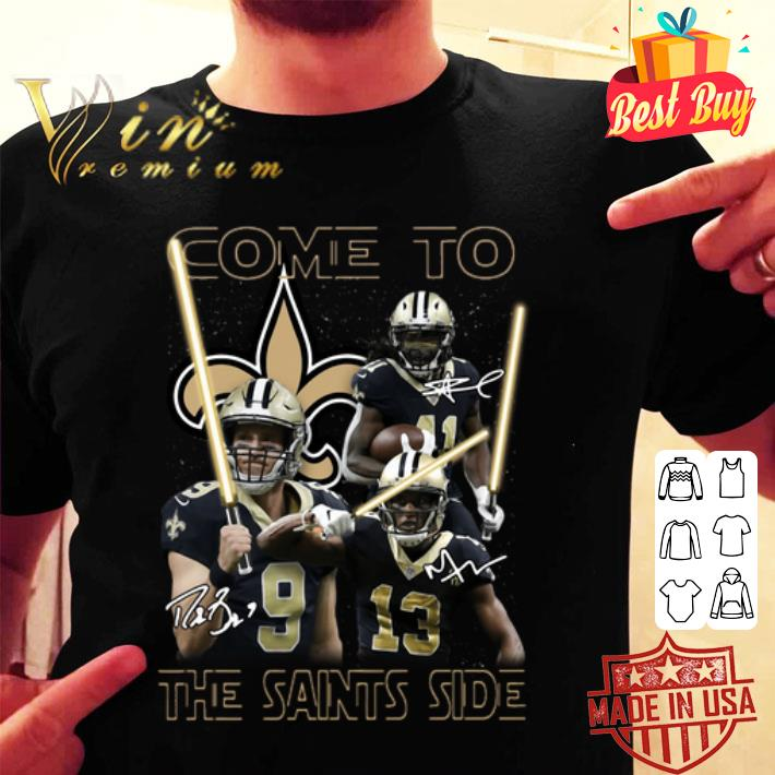 Come To The New Orleans Saints Side Star Wars Signatures shirt