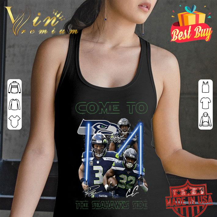 Come To The Seattle Seahawks Side Star Wars Signatures shirt