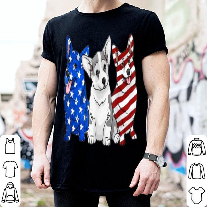 Corgi American Flag Independence Day shirt