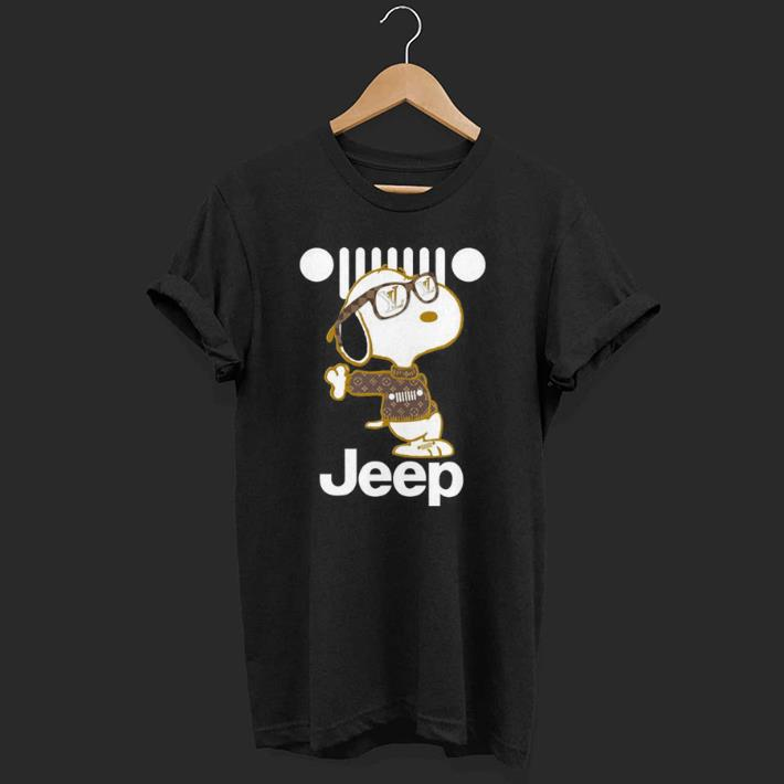 Cute Dog With Jeep shirt
