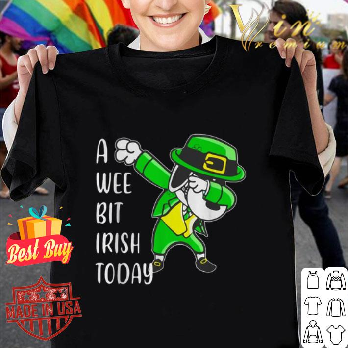Dabbing Snoopy a wee bit Irish today St. Patrick's day shirt