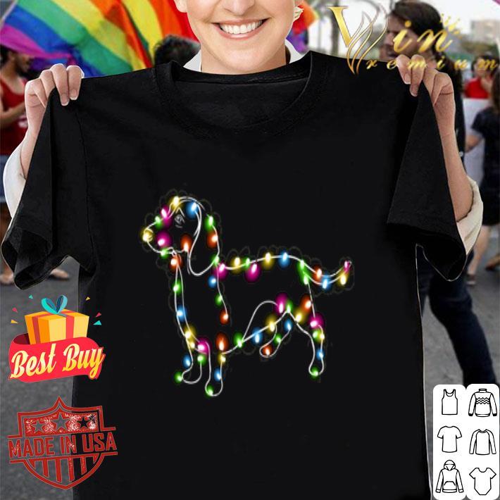 Dachshund Christmas light shirt