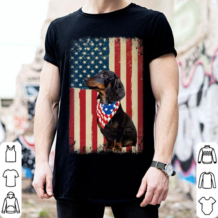 Dachshund flag US 4th Of July shirt