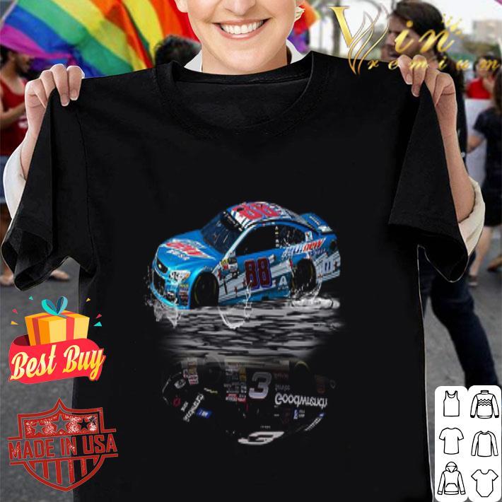 Dale Earnhardt Jr #88 reflection water mirror Sr #3 Nascar shirt