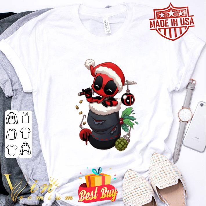 Deadpool santa stocking stuffers Christmas shirt