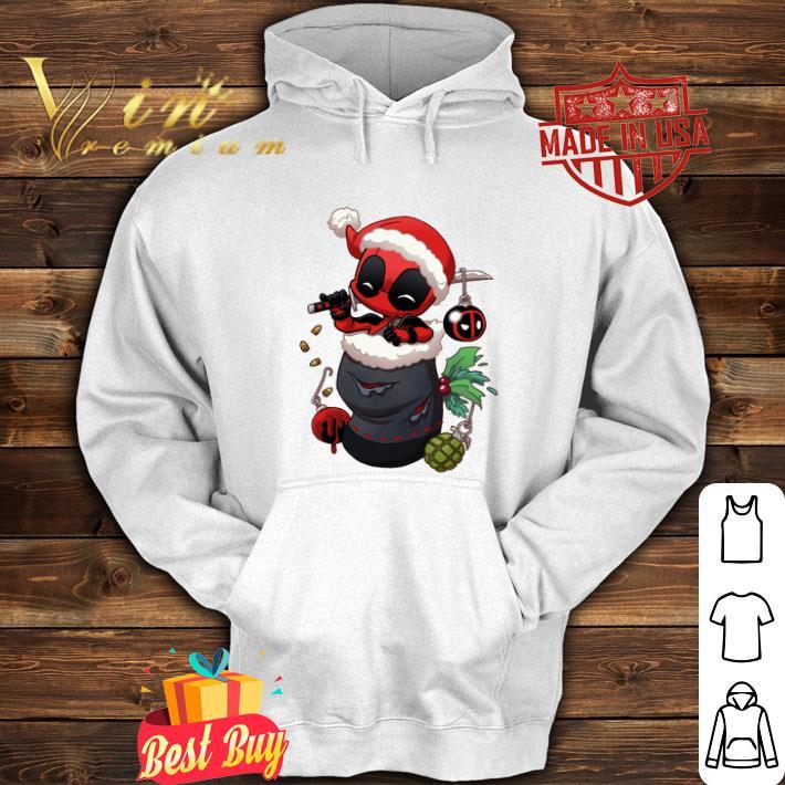 Deadpool santa stocking stuffers Christmas shirt