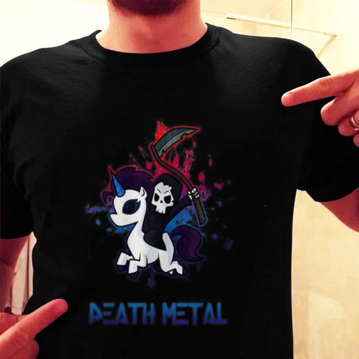Death Metal death riding unicorn shirt