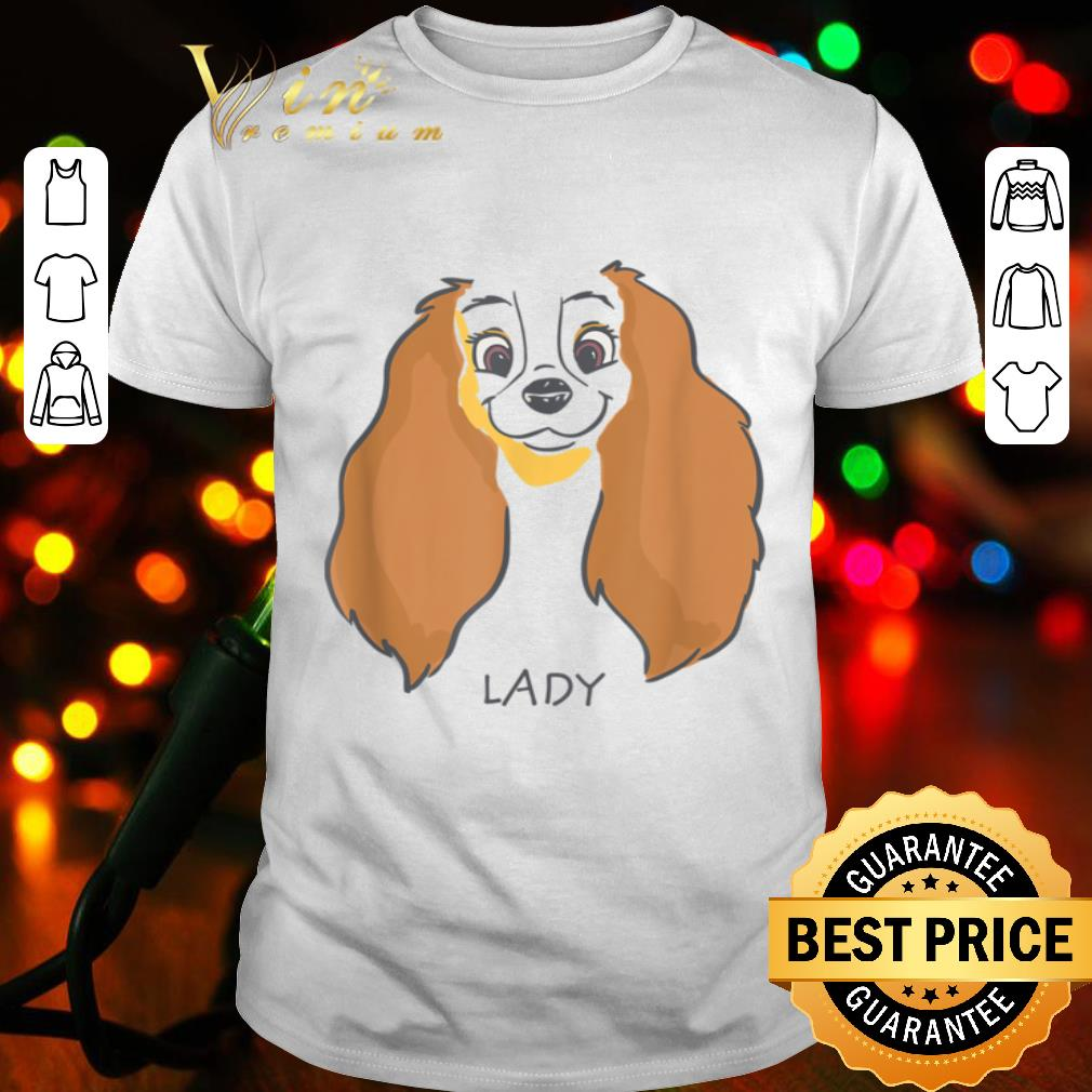 Disney Lady and the Tramp Lady Face Sketch Costume shirt