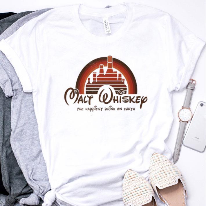 Disney Malt Whiskey the happiest drink on earth sunset shirt