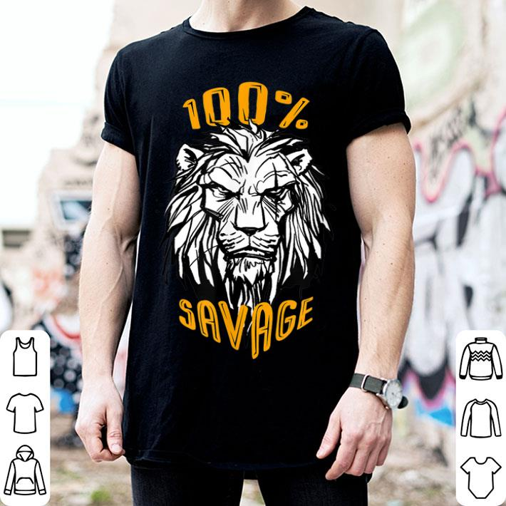 Disney The Lion King Scar 100% Savage shirt