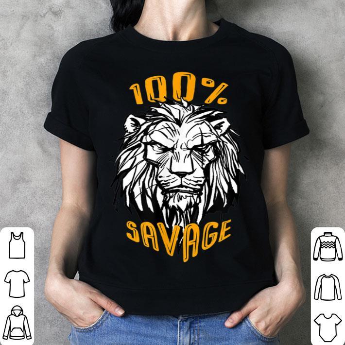Disney The Lion King Scar 100% Savage shirt