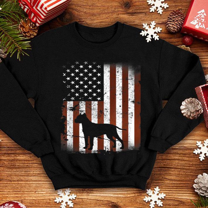 Dogo Argentino American Flag Dog 4th Of July shirt