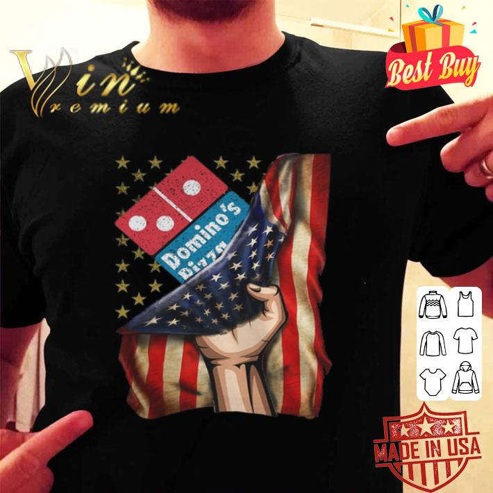 Domino's Pizza American Flag shirt