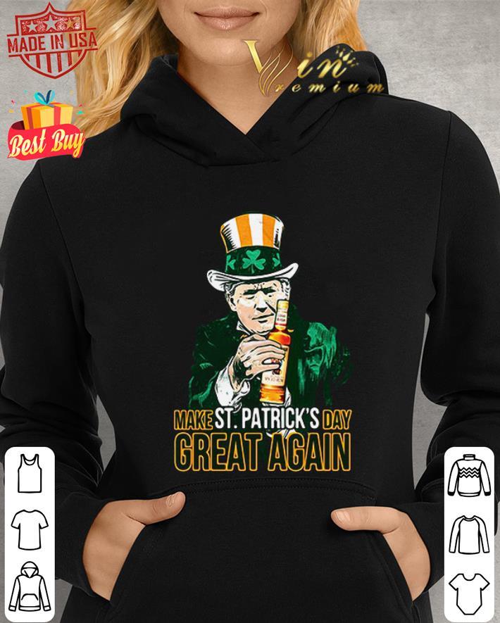 Donald Trump and Captain Morgan make St Patricks day great again shirt 2