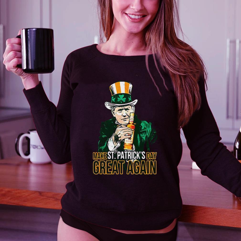 Donald Trump and Captain Morgan make St Patricks day great again shirt 3