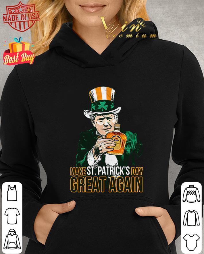Donald Trump and Crown Royal make St Patrick's day great again shirt 2