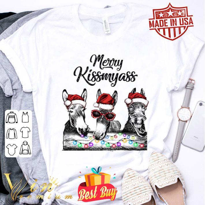 Donkey Santa Merry Kissmyass Christmas shirt