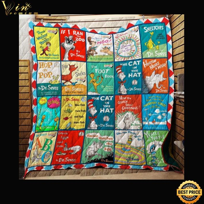 Dr. Seuss Books List of books The cat in the hat quilt blanket