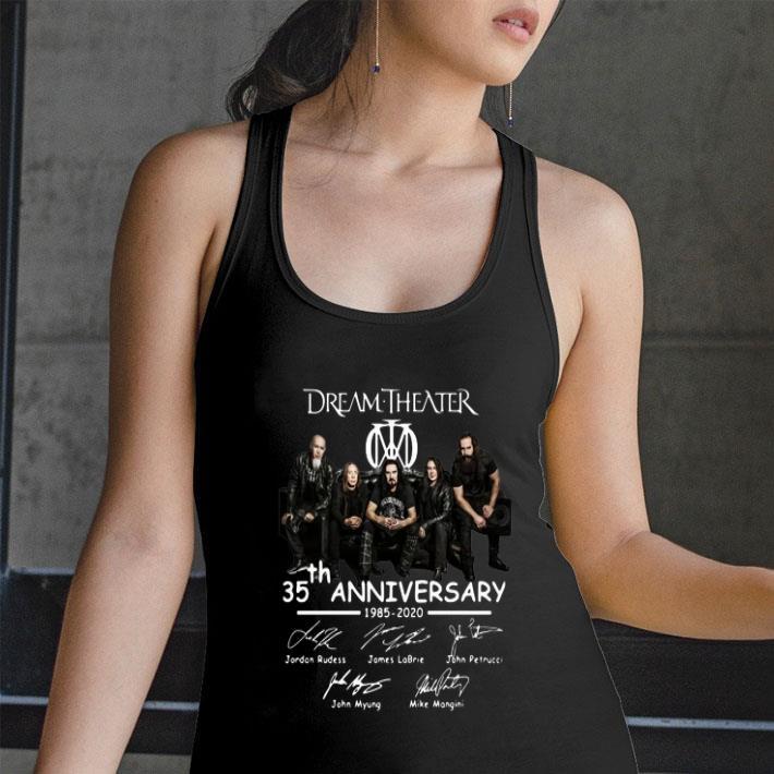 Dream Theater 35th Anniversary 1985-2020 Signatures shirt
