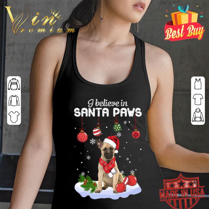 Dutch Shepherd i believe in Santa paws Christmas shirt