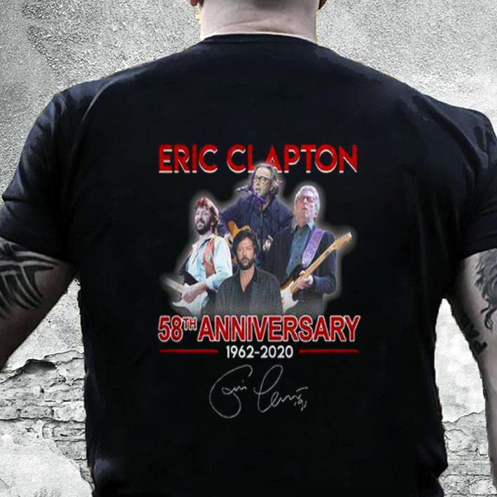 Eric Clapton 58th anniversary 1962-2020 signature shirt
