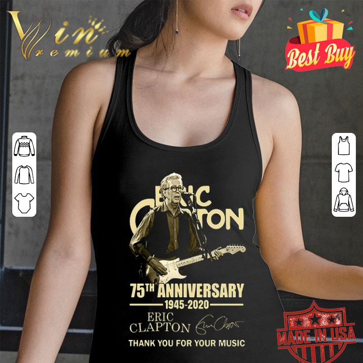 Eric Clapton 75th anniversary 1945 2020 thank you for the memories shirt