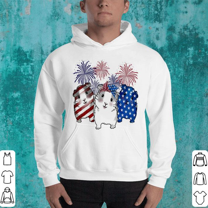 Fireworks Guinea Pigs 4th of July independence day American flag shirt