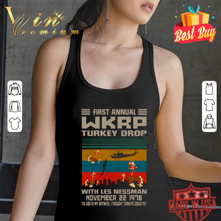 First Annual Wkrp Turkey Drop With Les Nessman November Vintage shirt
