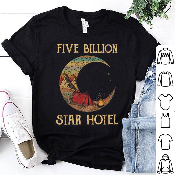 Five billion star hotel moom camping tent vintage shirt