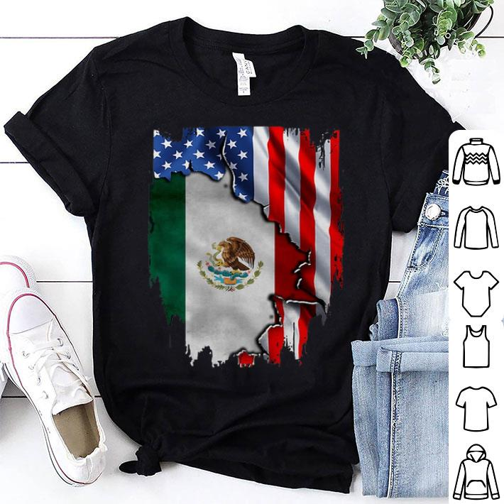 Flag American and Mexico shirt