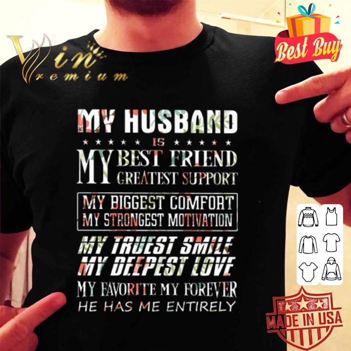 Flower My husband is my best friend greatest support my biggest shirt
