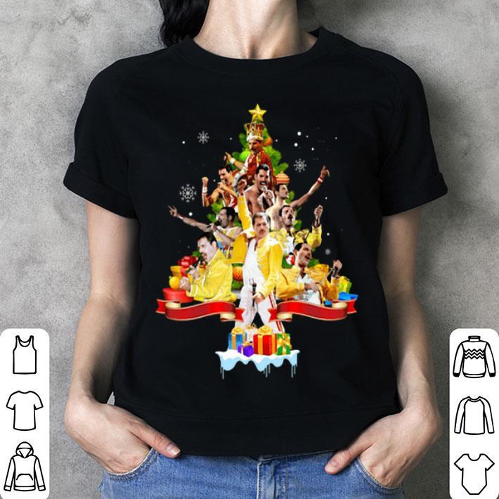 Freddie Mercury Christmas tree gifts shirt