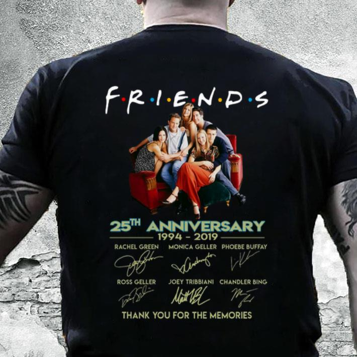 Friends 25th anniversary 1994-2019 thank you for the memories shirt