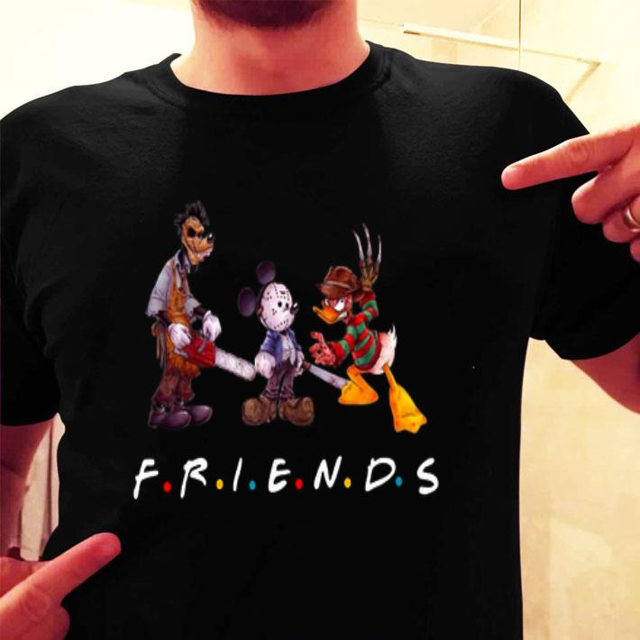 Friends horror movie characters Mickey Mouse universe shirt