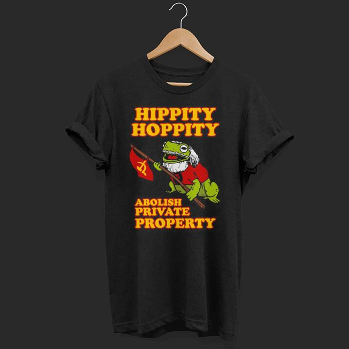 Frog With Communist Party Flag Hippity Hoppity Abolish Private Property shirt