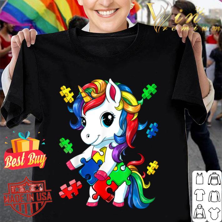 Funny Flossing Unicorn Autism Awareness Awesome Gift B085HWC7M7 shirt