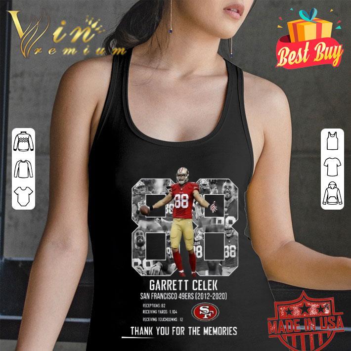 Garrett Celek San Francisco 49ers Thank You For The Memories shirt
