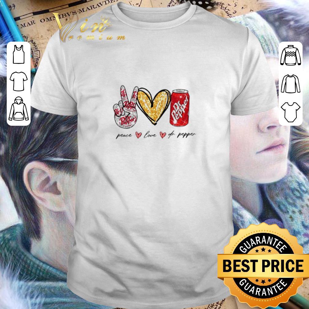 Glitter Peace love Dr Pepper shirt 1