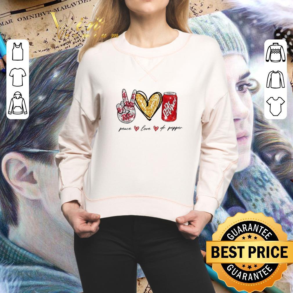 Glitter Peace love Dr Pepper shirt 2