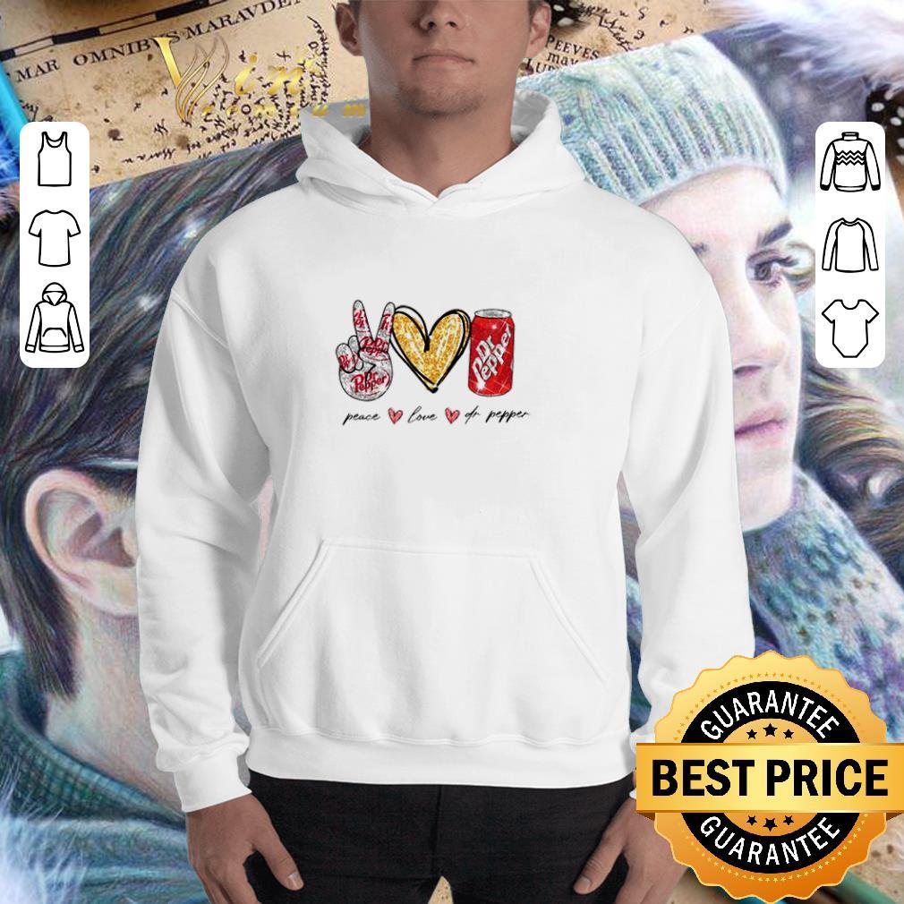 Glitter Peace love Dr Pepper shirt 3