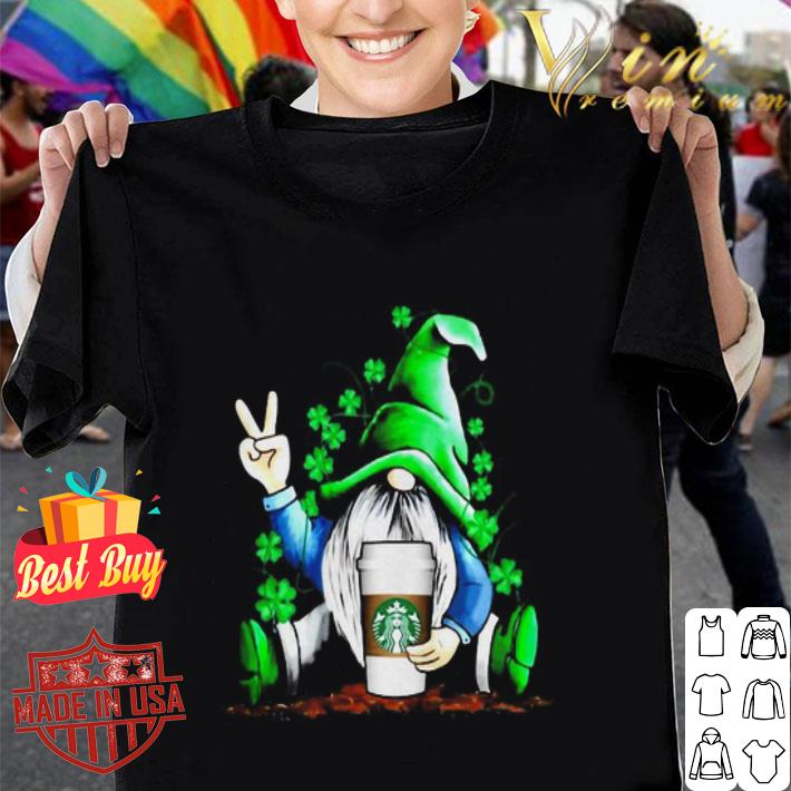 Gnome hug Starbucks coffee St. Patrick's Day shirt
