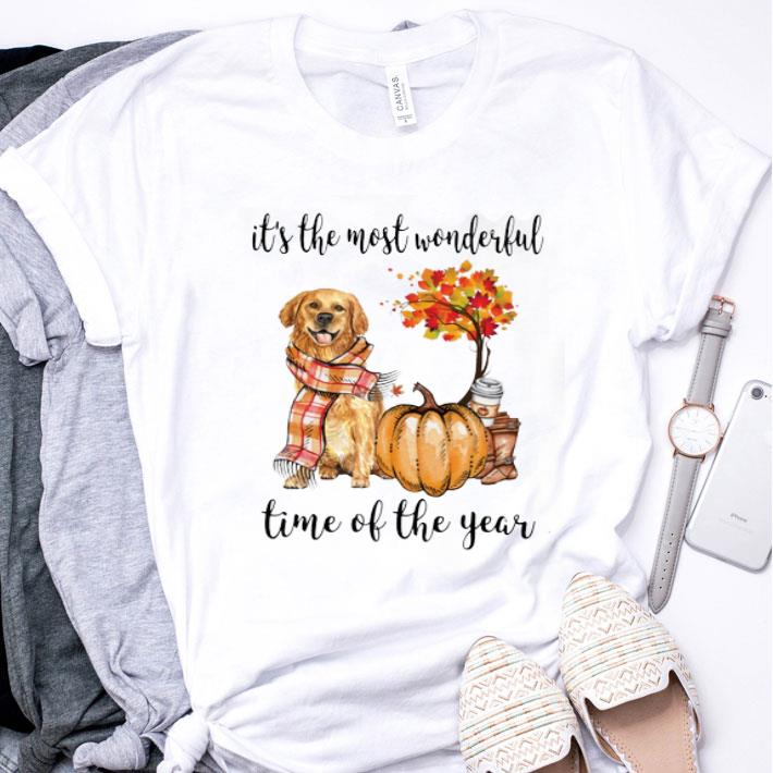 Golden Retriever it's the most wonderful time of the year shirt