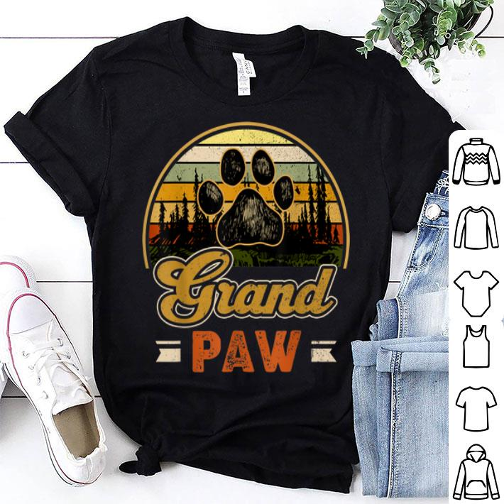 Grandpaw Retro Vintage Father Day shirt