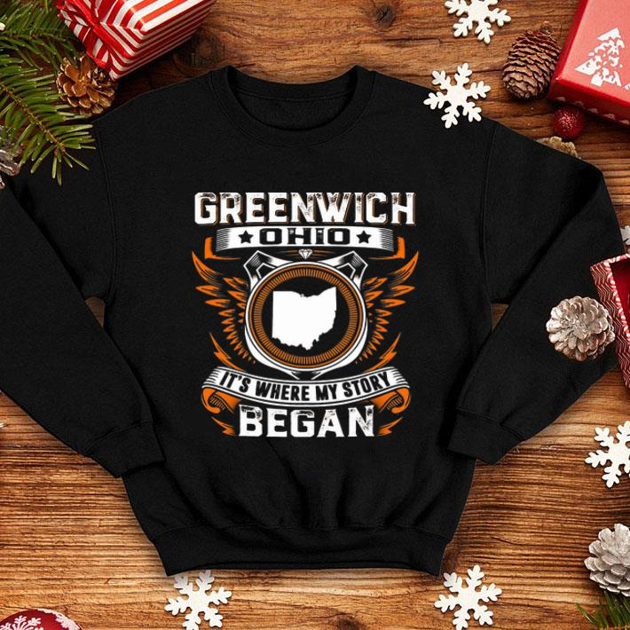 Greenwich ohio it's where my story began shirt
