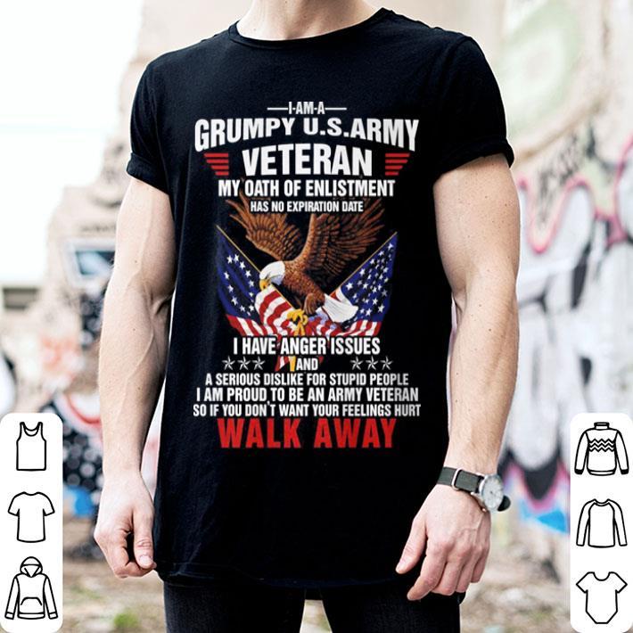 Grumpy us army veteran my oath of enlistment walk away shirt