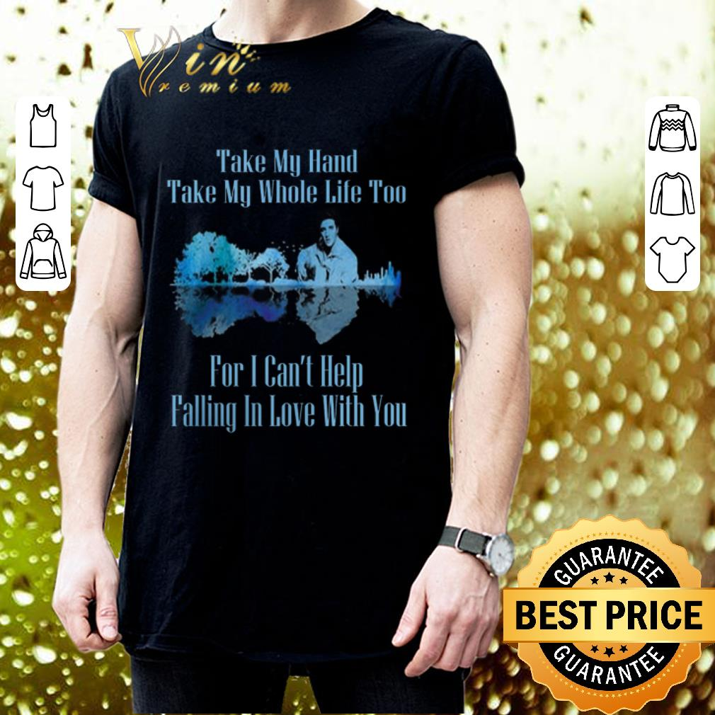 Guitar Lake Can't Help Falling In Love Lyrics Elvis Presley shirt 5
