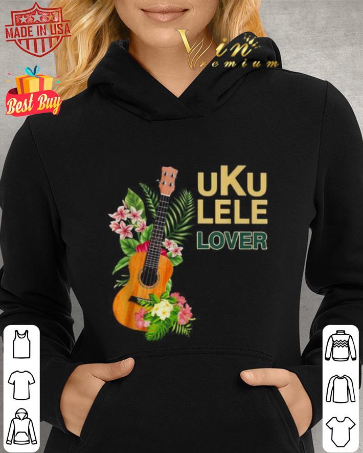 Guitar Ukulele lover flower shirt