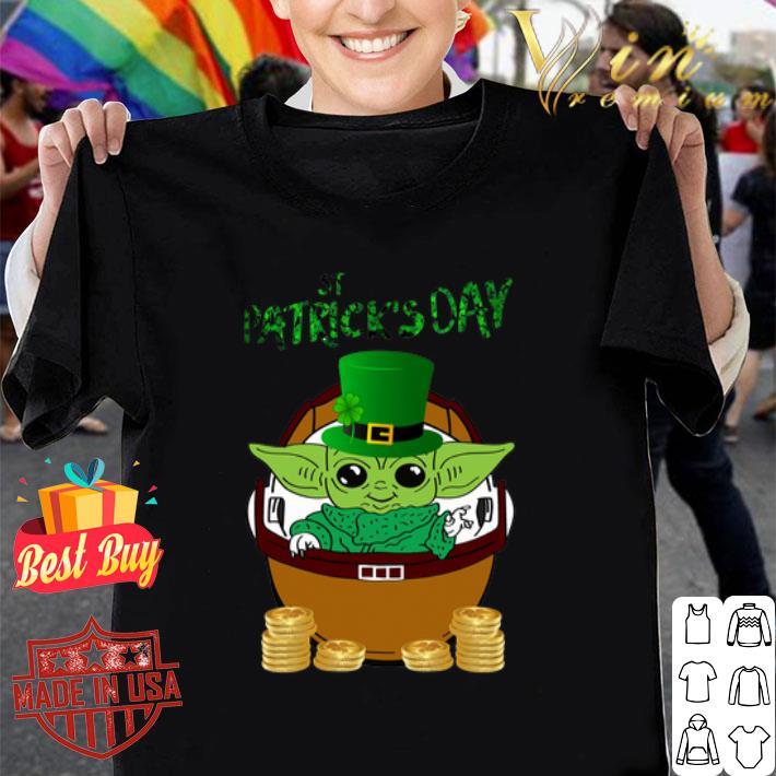 Happy St Patrick's Day Baby Yoda Star Wars shirt