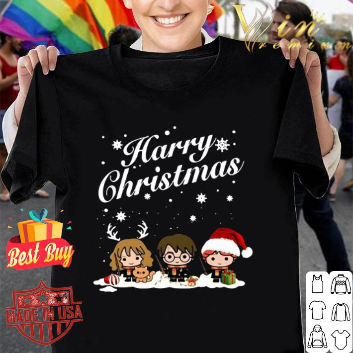 Harry Christmas Harry Potter characters chibi shirt