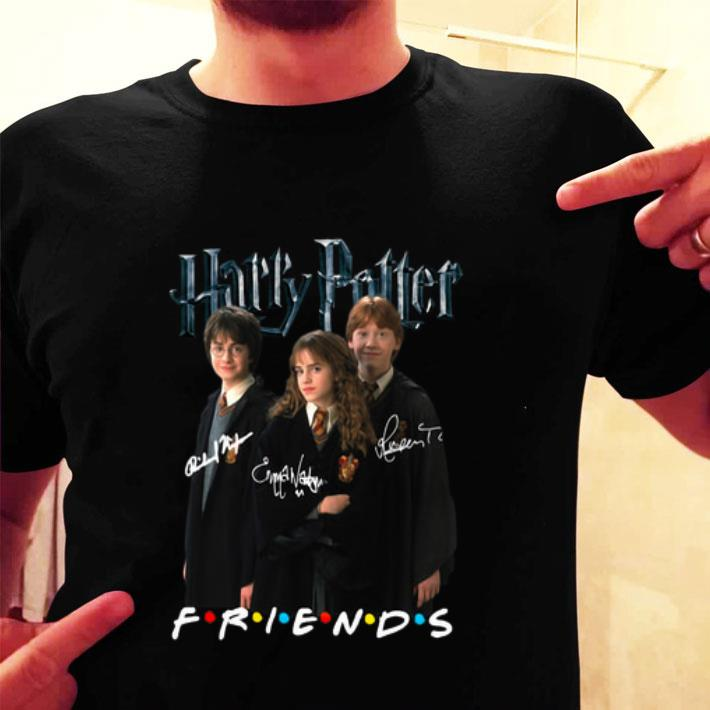 Harry Potter characters signatures Friends shirt